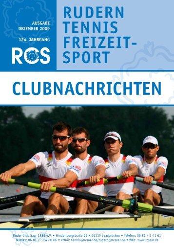 CLUBNACHRICHTEN - Ruder Club Saar 1885 eV
