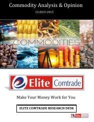 COMMODITY ANALYSIS  13-07-2015