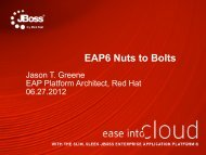 EAP6 Nuts to Bolts - Red Hat Summit