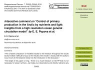 Control of primary production in the Arctic by nutrients and light - BGD