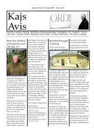 Kære Kaj, redaktør på Danmarks mest folkelige avis ... - KAJ´s AVIS