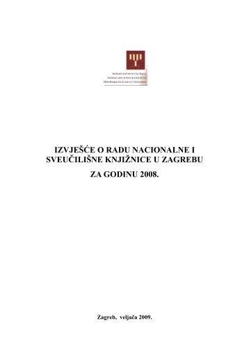 Izvješće o radu za 2008. godinu(pdf.) - NSK - Nacionalna i ...