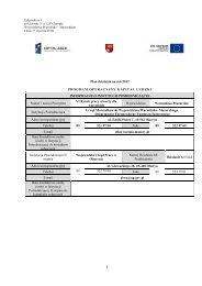 Plan Działania Priorytetu VI PO KL - Wojewódzki Urząd Pracy w ...