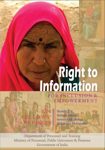 RTI Fellows' Reports - Right to Information Act