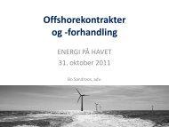 """""""Energi på Havet"""" on 31 October 2011 - Sandroos Advokatfirma"""