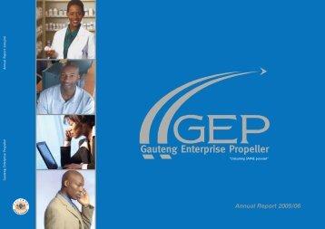 GEP Annual Report 2005-2006 - Gauteng Online