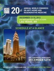 DECEMbER 12th - American Academy of Anti-Aging Medicine