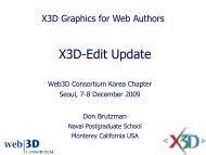 X3D-Edit Update - Extensible 3D Graphics for Web Authors