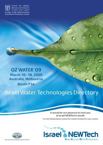 Israel Water Technologies Directory