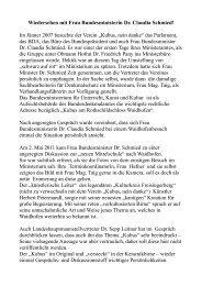 Wiedersehen mit Frau Bundesministerin Dr. Claudia Schmied! - Soup