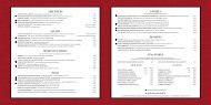 Download entire Restaurant Dinner Menu. - D'Amico and Sons