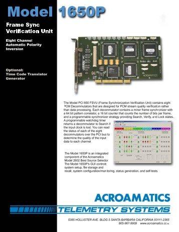 Datasheet - Acroamatics Telemetry Systems