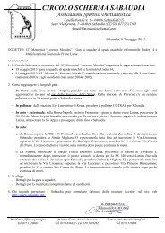 Regolamento gara del 08/05/2013 - FIS - Comitato Regionale Emilia ...