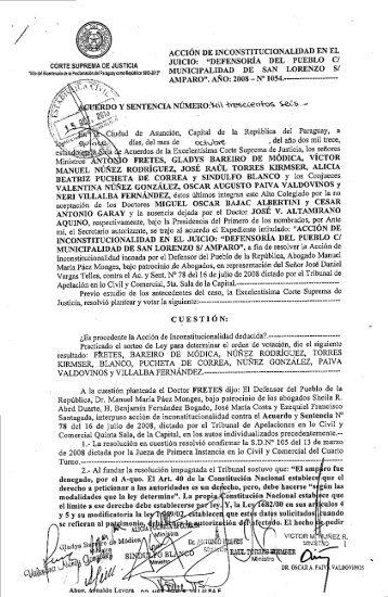 Acuerdo y Sentencia Nº 1.306 - Poder Judicial