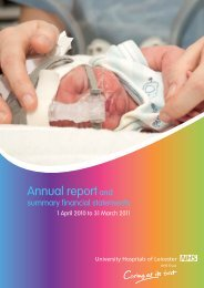 UHL Annual Report 2010-2011 - Library