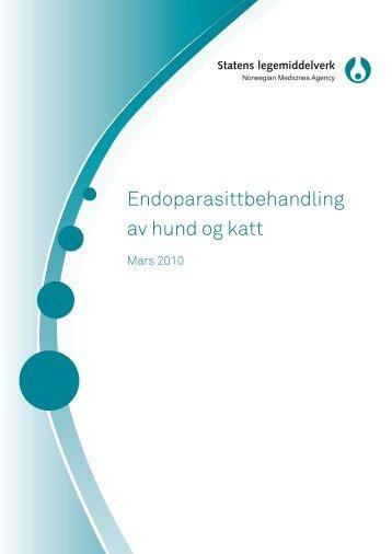 Endoparasittbehandling av hund og katt.pdf - Statens legemiddelverk