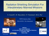Radiation Shielding Simulation For Interplanetary Manned ... - Geant4