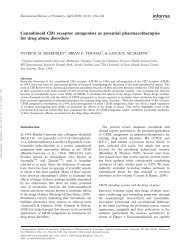 Cannabinoid CB1 receptor antagonists as potential - Fondazione ...