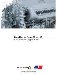 Diesel Engine Series 50 and 60 for Petroleum Applications