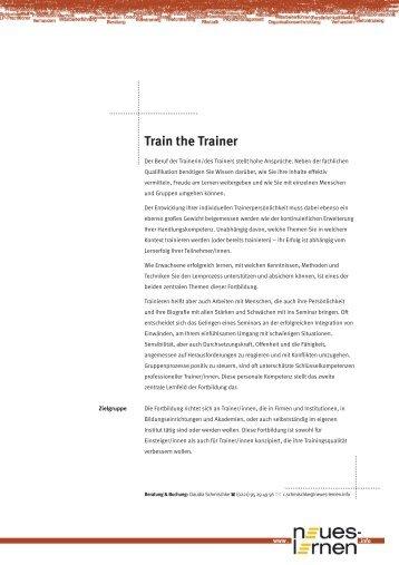 Train the Trainer - Neues Lernen e.V.