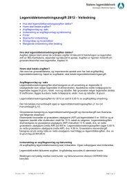 Legemiddelomsetningsavgift 2012 - Statens legemiddelverk