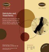 Hairstyles and Treatments - The Plassey Hair Studio Wrexham