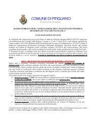 1 - Bando pacchetto Scuola - Comune di Pitigliano