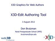 X3D-Edit Authoring Tool - Extensible 3D Graphics for Web Authors