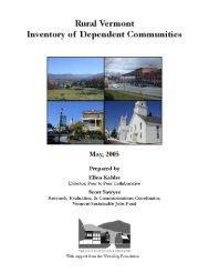Rural Vermont Inventory of Dependent Communities