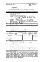 HRN ISO 11014-1:1997 Naziv proizvoda: JOKER ... - AM AGRO doo