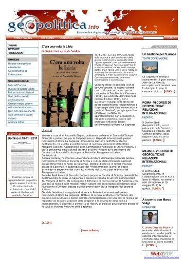 GEOPOLITICA.info - Approfondimento sugli ... - Miraggi Edizioni