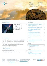 TSBc awards THOR 7 manufacture contract › - Telenor Satellite ...