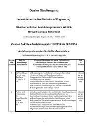 Dualer Studiengang - BBS Wittlich