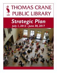 Strategic Plan - Thomas Crane Public Library