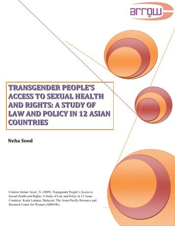 Transgender People's Access to Sexual Health and Rights: A Study ...
