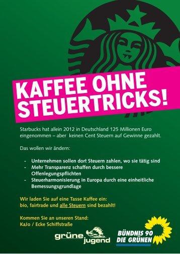 KAFFEEOHNE STEUERTRICKS! - Kerstin Andreae