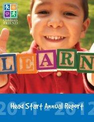 2012 Head Start Annual Report - Children's Friend