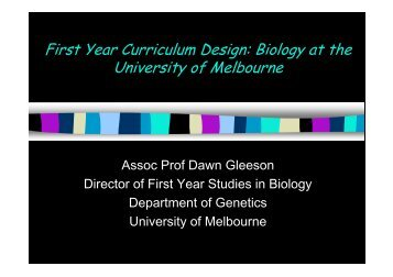 Dawn Gleeson Presentation - FYE - Curriculum Design Symposium