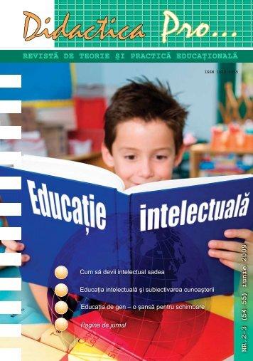 REVISTĂ DE TEORIE ŞI PRACTICĂ EDUCAŢIONALĂ - Pro Didactica