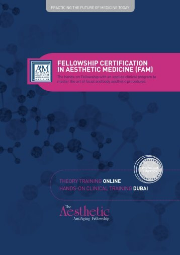 Aesthetic Fellowship Brochure.indd - American Academy of Anti ...