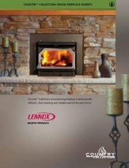 Country™ CoLLECtIon WooD fIrEPLACE InsErts - Classic Pool & Spa