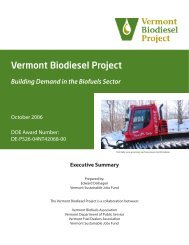 Vermont Biodiesel Project Building Demand In The Biofuels Sector