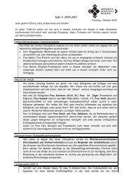 Info-Brief 1 / 2010/2011 - Weiherhof-Realschule