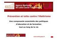 Prévention et lutte contre l'illettrisme - COE
