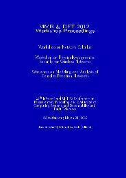 MMB & DFT 2012 Workshop Proceedings