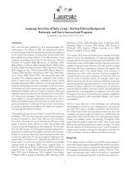 Language Activities of Daily Living - Laureate Learning Systems