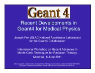 Recent Developments in Geant4 for Medical Physics - Cern