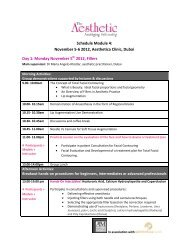 Day 1: Monday November 5 2012, Fillers Schedule Module 4 ...