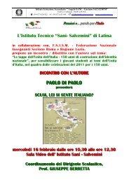 """L'Istituto Tecnico """"Sani- Salvemini"""" di Latina PAOLO ... - LatinaEventi.it"""
