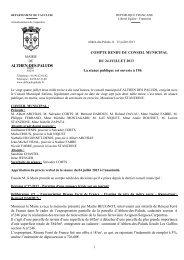 Conseil Municipal du mercredi 24 juillet 2013 - Althen des Paluds